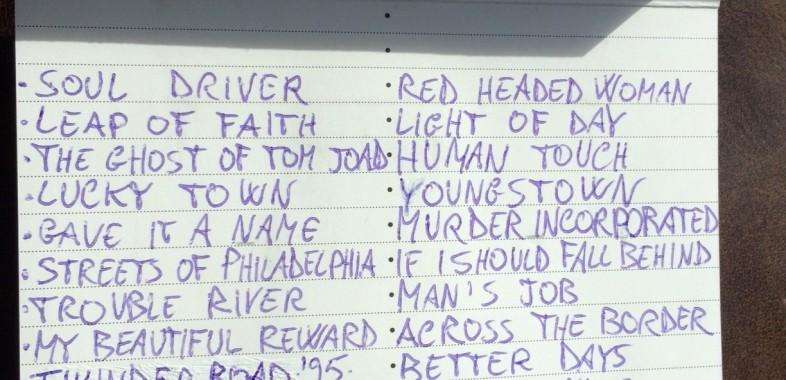 Springsteen tracklist mixtape 90s